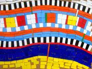 Ellen Roß: Il grande fiume n°2, 2011, Vinyl auf Holz auf MDF-Platte, 70 x 100 cm