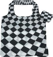 Chilino Bag Tasche Karos, schwarz, weiß
