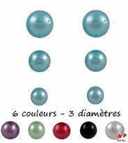 Boucles d'oreilles perles nacrées