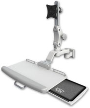 医療向け ウォールチャネルマウント ディスプレイキーボード ワークステーションアーム : ASUL550-W5-KUP-AS1