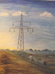 Inge Wölfinger, Landschaft dominierende Strommasten