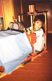 Johannes Strommer als Kind in der Matadorlok