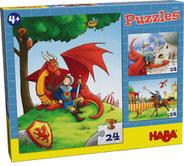 Le chevalier et le dragon - 3 puzzles - HABA