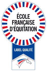 Logo Label qualité, École française d'équitation