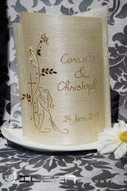 Hochzeitskerze elegant