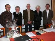 v.l.n.r.: Dr. Kornder,Dr. Meister, Dr. Sperber, Hr. Lieckfeld, Dr. Straubinger