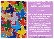 Deepak Chopra - Noble Peace by Jean Paul Wabotaï 2020
