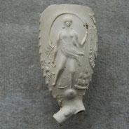 Afbeelding Vrouwe Fortuna. Geen hielmerk op hiel, Gouda, ca 1850-1900