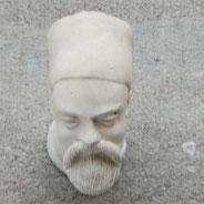 Manchet versie van bovenstaand pijpje, hoofd iets naar links gedraaid