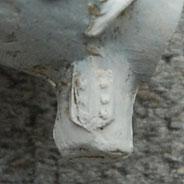 Bijmerk Wapen van Gouda op beide zijden hiel