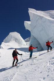 vom kleinen Matterhorn zum Mont Rosa Gletscher