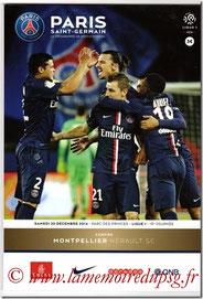 Programme  PSG-Montpellier  2014-15