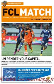 Programme  Lorient-PSG  2014-15