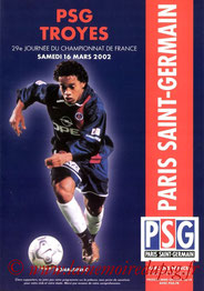 Programme  PSG-Troyes  2001-02