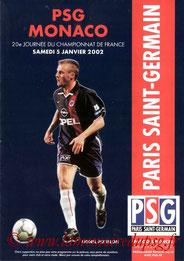 Programme  PSG-Monaco  2001-02