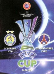 2009-04-16  Dynamo Kiev-PSG (Quart Finale Retour C3, Programme pirate)