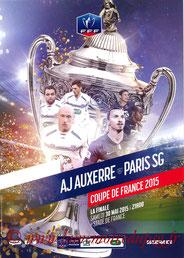 Programme  Auxerre-PSG  2014-15