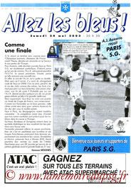 Programme  Auxerre-PSG  2002-03