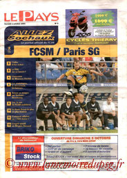 Programme  Sochaux-PSG  2003-04