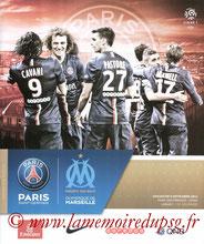 Programme  PSG-Marseille  2014-15