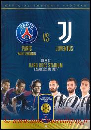 Programme  PSG-Juventus  2017-18