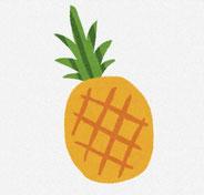 パイナップル イラスト