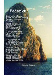 Gedicht Bedankt - Weduwe in Opleiding - Sascha Groen