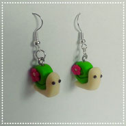 Kawaii Snail Earrings