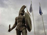 Statua del re spartano Leonidas (passo delle Termopoli in Grecia)