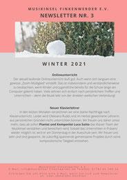 Newsletter MusikInsel Finkenwerder e.V. Winter 2021 Seite 2