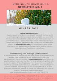 Newsletter MusikInsel Finkenwerder e.V. Winter 2021 Seite 1
