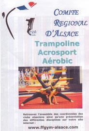 Des gymnastes de  l'ANCIENNE  ont été selectionnés pour illustrer la plaquette de la saison 2010/2011 du CRA