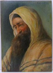 F. Thalmüller,bärtiger Mann, Jude mit Gebetsschal, Tallit, Öl auf Platte,, € 480,00