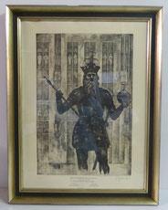Details zu  Sepp Frank, Radierung, Kaiser Karl, Aachen, Karlsbrunnen, 1947, Auflage 37/400 , € 350,00