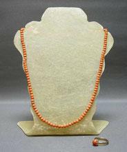 Details zu  Korallen Kette 52,0 cm, Korallen Ring Gold 333,18 mm, 50er Jahre, Lachskoralle, € 280,00