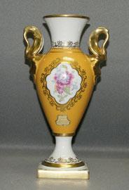 Lindner Küps Porzellan, Marita Gold, Pokal Vase , Blumenkartusche, Schwanenhals , € 99,00