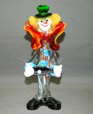 Murano Clown, Zirkus, mundgeblasen, Gitarrenspieler, 26,5 cm, € 115,00