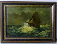 Seestück, Öl auf Holz, ca. 1890, signiert, € 750,00