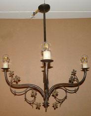 Jugendstillampe, Deckenlampe, Kronleuchter, Messing brüniert, Ø 74,0 cm, € 450,00