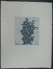 "Mark Tobey, ""Liberation"",H.C., handsigniert,Farbradierung,27,6 cm x 24,6 cm , € 400,00"