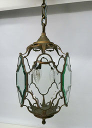 Große barocke Hallen Lampe, Bronze, facettiertes Glas, 85,0 cm, € 460,00