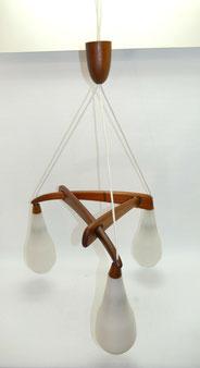 Teakholz Deckenlampe, 60er Jahre, danish Design, Mid century, 100 cm, Ø 55,0 cm, € 315,00