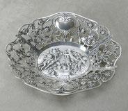 Durchbruchkorb, 800er Silber, Putten, Rosen, Engel, Herzen, 158,0 g. , € 198,00
