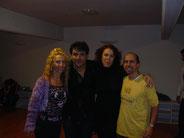 noi con Julio Balmaceda y Corina della Rosa
