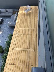 Terrassenboden Accoya braun  Lüscherz - Terrassenboden Bern und Umgebung Zürcher Holzbau Bern AG