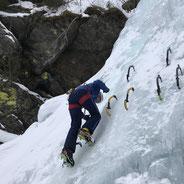 Eisklettern Lechtal Tirol Bergführer