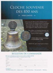 Commande cloche souvenir 850 ans