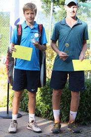 Sieger: Henry Von der Schulenburg, R1, (rechts), Finalist: Gian Grünig, R2, (links): 6/2, 2/6, 6/1