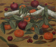 秋の果物 ( 油彩・F10 )