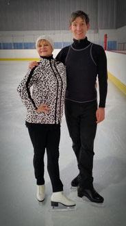 Mit Weltmeisterin Christine Errath beim Hobbylaufen im Berliner TSC (Januar 2016)